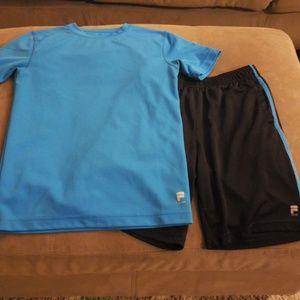 Fila athletic shorts & top